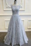 Sexy V-Back Tulle Lace Prom Dress with Appliques Custom Made Fashion Long Evening Gowns Bridal Wedding Gowns PD379