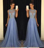 Custom Made Beaded Appliques Long Prom Dress 2019 Fashion Beadings Chiffon Evening Dress PD182