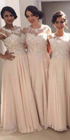 Custom Made Chiffon Appliques Bridesmaid Dress Fashion Floor Length Formal Dress BD022