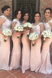 Sweetheart Off Shoulder Satin Lace Bridesmaid Dress Mermaid Prom Dress BD010