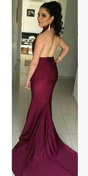 Sexy Mermaid Long Prom Dress Custom Made Long Backless Evening Gowns Fashion Long School Dance Dress Women's Pagent Dresses PD915