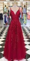 Tulle Appliques Long Prom Dress 2020 Custom Made Long Evening Gowns Fashion Long School Dance Dress Women's Pagent Dresses PD955