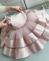 Cute One Shoulder Satin and Tulle Flowergirl Dress Fashion Flower Girl Dresses FD007
