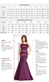 Sexy Backless Deep V-Neck Prom Dress Burgundy Satin Mermaid Evening Dress PD073