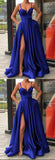 Sweetheart Side Slit Royal Blue Prom Dress Long 2019 Custom Made Long Evening Gowns Fashion Formal Dresses PD465