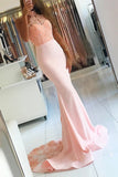Halter Appliques Prom Dress with Beadings Custom Made Mermaid Evening Party Dress Fashion Long Beaded School Dance Dress PD515