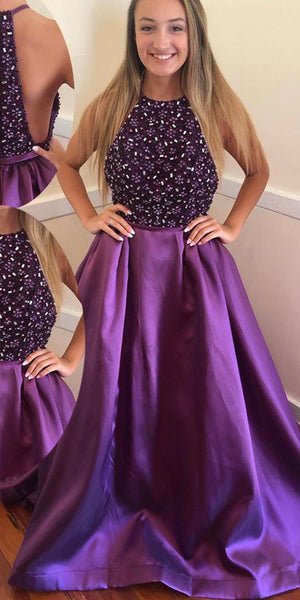 Sparkly Beaded Long Prom Dress Custom Made Long Beadings Evening Gowns Fashion Long School Dance Dress Women's Pagent Dresses PD921