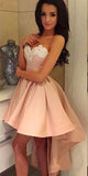 Sweetheart High-Low Appliques Homecoming Dress Short A-Line Prom Party Dress HD053