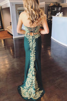 Sweetheart Appliques long Prom Dress 2019 Custom Made Sexy Mermaid Evening Party Dress Fashion Long School Dance Dress PD508