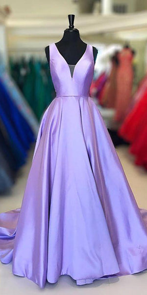 Simple Long Prom Dress Custom Made Long Lilac Evening Gowns Fashion Long School Dance Dress Women's Pagent Dresses PD924
