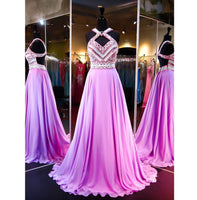 Sparkly A-Line Beaded Chiffon Prom Dress Custom Made Fashion Long Beadings Evening Gowns PD296