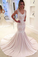 Sexy Mermaid Long Prom Dress with Appliques Custom Made Fashion Long Evening Dress PD216