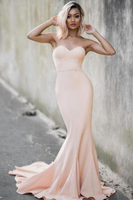 Simple Sexy Sweetheart Mermaid Prom Dress Custom Made Fashion Long Evening Party Dress PD208