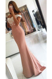Custom Made Sweetheart Mermaid Prom Dress with Appliques Fashion Long Off Shoulder Evening Gowns PD297