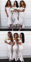 Mermaid Off Shoulder Bridesmaid Dress Custom Made Fashion Sexy Open Back Wedding Party Dresses BD092
