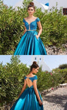 Sexy Open Back Appliques Prom Ball Gowns with Pocket Custom Made Fashion Long Evening Party Gowns PD350