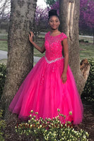 Discount Fashion Beaded Appliques Quinceanera Dress Custom Made Long Beading Prom Party Dress PD164