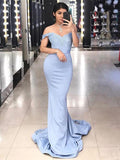 Sweetheart Off Shoulder Appliques Prom Dress 2019 Custom Made Long Mermaid Evening Party Dress Fashion Long School Dance Dress Women's Pageant Dress PD637