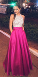 Sparkly Halter Beaded Prom Dress 2019 Custom Made Satin A-Line Evening Party Dress Fashion Long School Dance Dress Sweet 16th Dress PD506