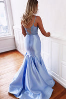 Sweetheart Beaded 2 Pieces Satin Prom Dress Custom Made Long Mermaid Graduation Party Dress Fashion Two Pieces School Dance Dresses PD431