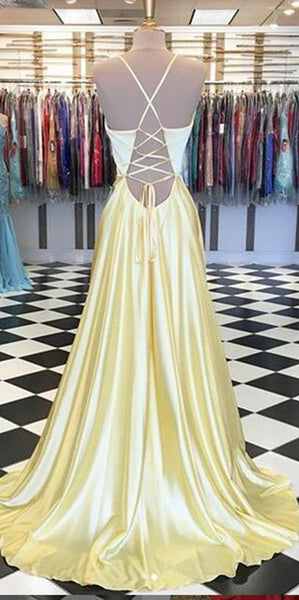 Simple Sexy Long Spaghetti Straps Prom Dress Custom Made Long Evening Gowns Fashion Long School Dance Dress Women's Pagent Dresses PD903