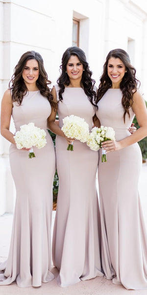 Simple Sexy Long Mermaid Bridesmaid Dress 2019 Custom Made Fahion Long Wedding Party Dresses BD084