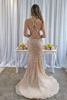Sparkly Beaded Long Prom Dress 2019 Custom Made Mermaid Evening Gowns Fashion Beadings Open Back School Dance Dresses PD575