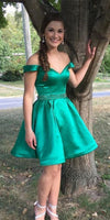 Sexy Off Shoulder Short Prom Dress with Beaded Waist Custom Made Short Homecoming Dress Fashion Short School Dance Dress PDS064