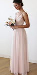 2020 Simple Long Bridesmaid Dresses Custom Made Fashion Wedding Party Dresses BD128