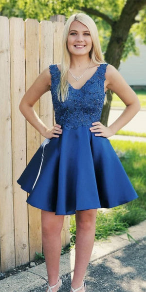 Short Appliques Homecoming Dresses 2020, Custom Made Cocktail Dresses, Fashion Short School Dance Dresses, Sweet 16th Dresses, HD254
