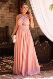Simple A-Line Chiffon Prom Dress Custom Made Fashion Formal Gowns Long Evening Dresses PD397