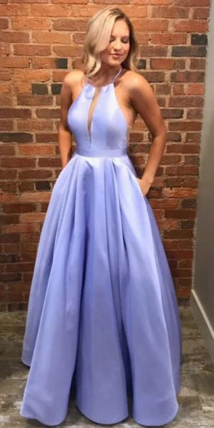 Simple Long Prom Dress with Pockets Custom Made Long Evening Dress Fashion Long School Dance Dress Women's Formal Dresses PD876