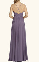 Simple Spaghetti Straps Long Bridesmaid Dress 2019 Custom Made Chiffon Floor Length Wedding Party Dresses BD074