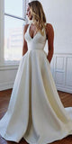 Simple Long V-Neck Prom Dress Custom Made Long Open Back Evening Gowns Fashion Long School Dance Dress PD820