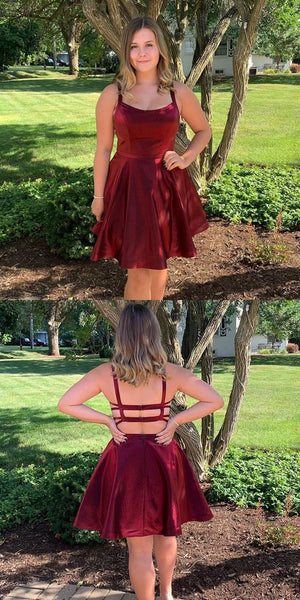 Simple Short Homecoming Dress with Straps Custom Made Cute Cocktail Dress Fashion Short School Dance Dresses Short Women's Fashion Dresses HD193