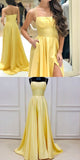 Simple Long Spaghetti Straps Prom Dress Custom Made Long Side Slit Evening Gowns Fashion Long School Dance Dress PD821