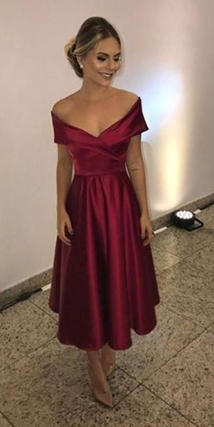 Simple Off Shoulder Short Prom Dress Custom Made Short Homecoming Dress Fashion Short School Dance Dress PDS058