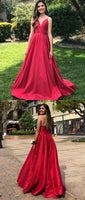 Simple Long Spaghetti Straps Prom Dress Custom Made Long Evening Gowns Fashion Long School Dance Dress PD813
