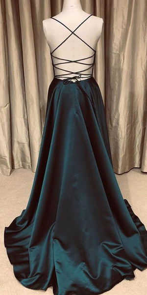 Simple Spaghetti Straps Long Prom Dress Custom Made Long Backless Evening Gowns Fashion Long School Dance Dress Fashion Formal Dresses PD842
