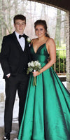 Simple Long Spaghetti Straps Plus Size Prom Dress Custom Made Long Evening Gowns Fashion Long School Dance Dress PD809