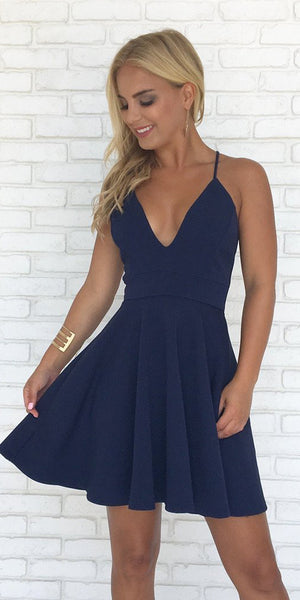 Simple Spaghetti Straps Short Prom Dress Custom Made Short Cross Back Homecoming Dress Fashion Short Open Back School Dance Dress PDS038