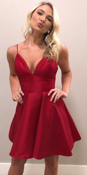 2020 Short Spaghetti Straps Homecoming Dress Custom Made Cute Cocktail Dress Fashion Short School Dance Dresses Sweet 16th Dresses HD218