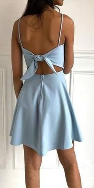 Simple Spaghetti Straps Short Prom Dress 2020 Custom Made Short Homecoming Dress Fashion Short School Dance Dress PDS070