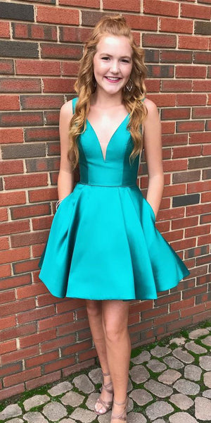 2020 Short Homecoming Dress with Pockets Custom Made Cute Cocktail Dress Fashion Short School Dance Dresses Sweet 16th Dresses HD221