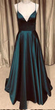 Spaghetti Straps Long Bckless Prom Dress Custom Made Long V-Neck Evening Gowns Fashion Long School Dance Dresses PD741