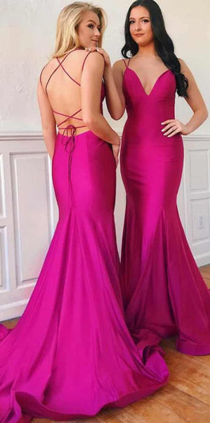 Sexy Backless Long Mermaid Prom Dress Custom Made Long Spaghetti Straps Evening Dress Fashion Long School Dance Dress PD799