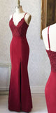 Spaghetti Straps Long Bridesmaid Dress with Lace Bodice Custom Made Fashion Long Side Slit Wedding Party Dresses BD114
