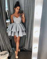 2020 Short Spaghetti Straps Homecoming Dress Custom Made Cute Cocktail Dress Fashion Short School Dance Dresses Sweet 16th Dresses HD225