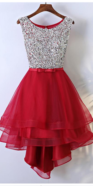 Sparkly Beaded Short Tulle Homecoming Dress Custom Made Cute Cocktail Dress Fashion Short Sequined School Dance Dresses Short Sweet 16th Dresses HD211