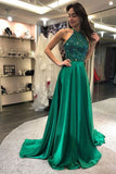 Sparkly Beaded Long Prom Dress Custom Made Long Sexy Evening Gowns Fashion Long Beadings School Dance Dresses PD773